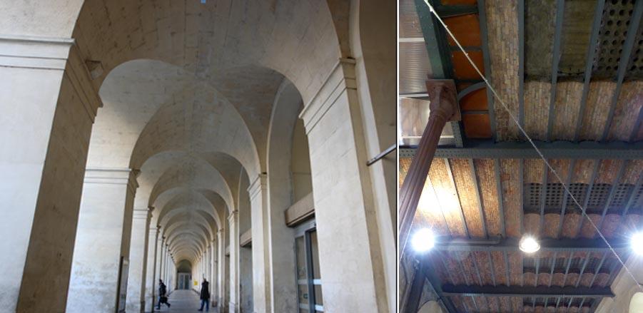 sous les arches de la gare de Nîmes