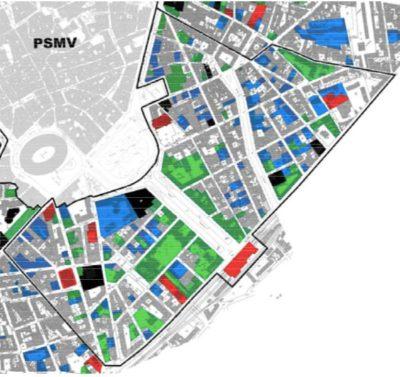 plan du quartier de la gare de Nîmes
